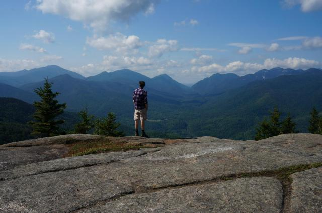 Here's a picture of me at the summit of Hopkins in the Adirondacks